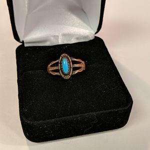 Jewelry - Copper and Turquoise Ring size 5.5